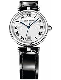 Louis Erard Women's 11810AA01.BDCB5 Romance Black Genuine Leather Date Wristwatch