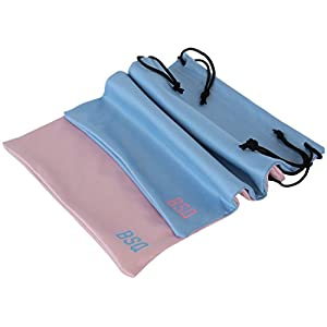 Microfiber Pouch 10 x 14 Inch (2 Pack) - Soft Cloth Storage Bags for 11 Inch Tablets & iPad Pro/Air- Digital Camera Accessories & Electronic Gadgets - Optical Grade Fabric - Pink & Light Blue