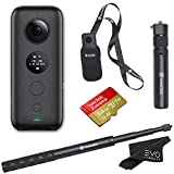 Insta360 ONE X 360 Camera with 5.7K 4K 3K Video and 18MP Photos - Bundle Includes Bullet Time Handle, Invisible Selfie...