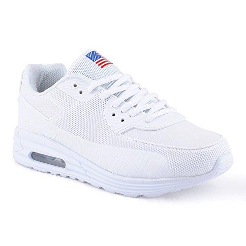 Damen Sneaker Sportschuhe Lauf Freizeit Fitness Low Schuhe Weiss-3 EU 39