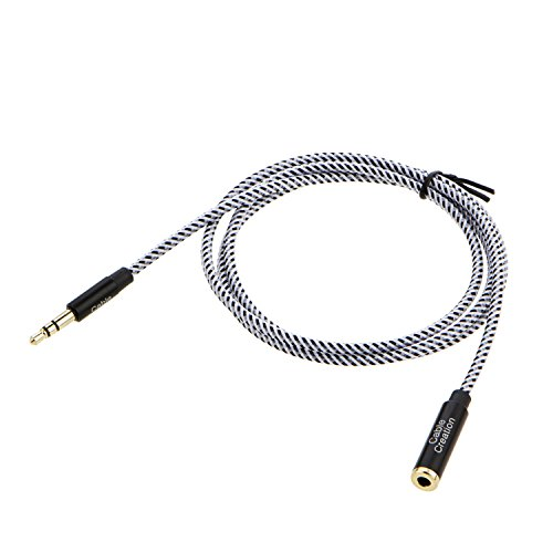 cablecreation 3 feet 3 5mm male to female extension stereo