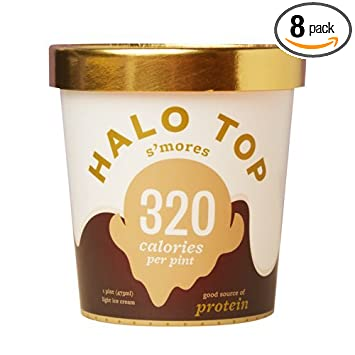 Halo Top S Mores Ice Cream Pint Pack Of 8 Amazon Com Grocery