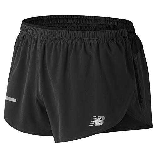 New Balance Impact Split Short 3in, Black, Small by New Balance (Image #2)