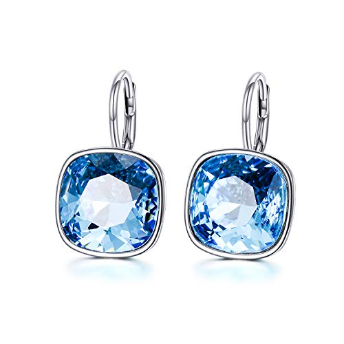 AOBOCO 925 Sterling Silver Leverback Earrings with ()