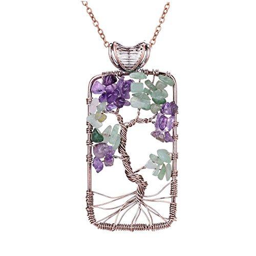 Sedmart Pendant Healing Necklace Gemstone