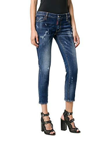 Donna Cotone Dsquared2 S72lb0160s30595470 Blu Jeans 5UcSZT