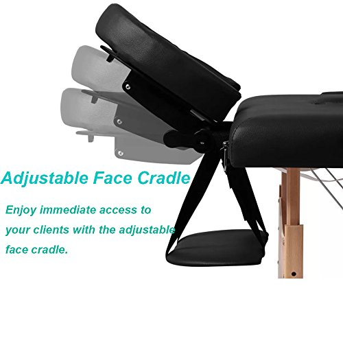 New Black 84'' Portable Massage Table w/Free Carry Case T1 Chair Bed Spa Facial by BestMassage (Image #4)