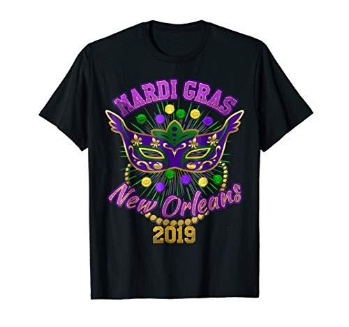 Mardi Gras Beads Coins New Orleans 2019 Costume Party Shirt -