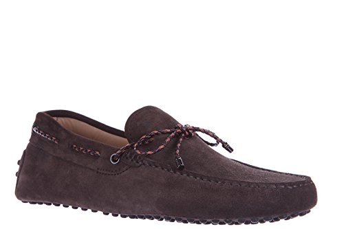 Tod's Wildleder Mokassins Herren Slipper laccetto gommini 122 Braun