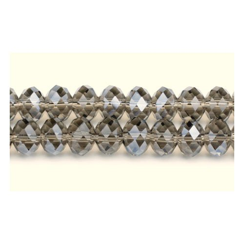 70+ Pale Taupe Czech Crystal Glass 6 x 8mm Faceted Rondelle Beads GC3528-3 (Charming Beads)