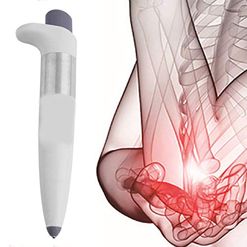 Electronic Acupuncture Pen Portable Acupuncture Meridian Laser Therapy Machine Pain Relief Acupuncture Acupressure Massage Gifts for Parents,White
