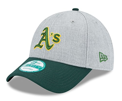 New Era MLB Oakland Athletics The League Heather 9FORTY Adjustable Cap, One Size, Gray