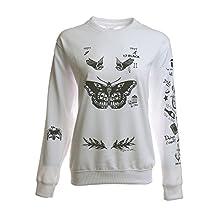 Noonew Women's Harry Style Tattoos Sweatshirt White Shirt