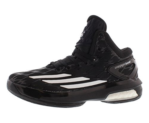 Adidas Crazy Light Boost Boys Basketball Shoes Size US 5, Regular Width, Color Black/White