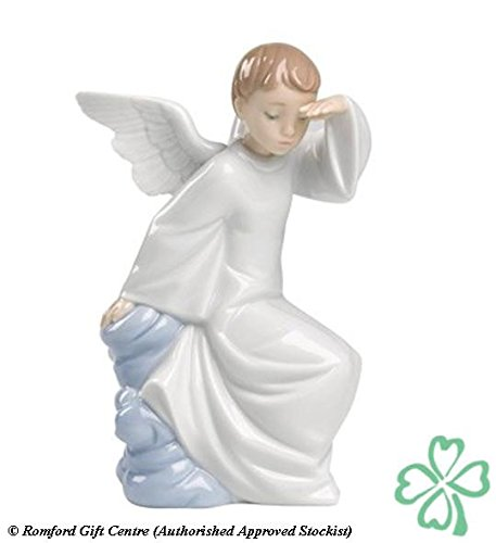 Nao Porcelain by Lladro WATCHING OVER YOU ( GUARDIAN ANGEL ) 2001597 by Nao Porcelain