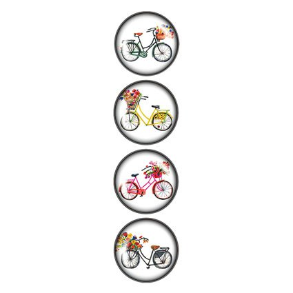Clicks Magnets (iPOP Carolyn Gavin Bicycles Clicks Magnet Set (4 Pack))