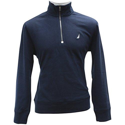 Navy 1/4 Zip Sweatshirt - 8