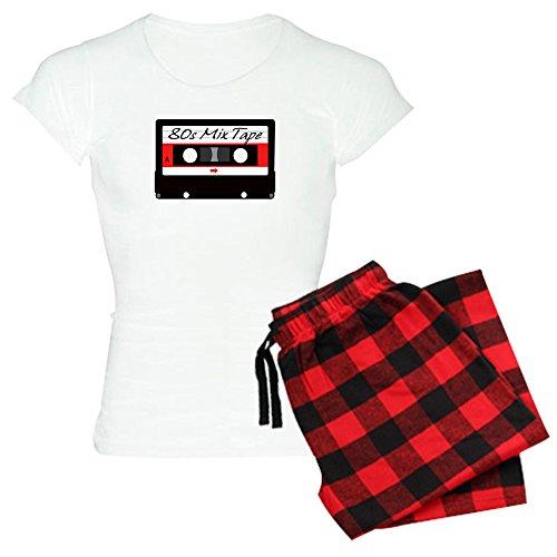 CafePress 80S Music Mix Tape Cassette Womens Novelty Cotton Pajama Set, Comfortable PJ Sleepwear