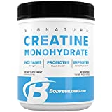BodyBulding.Com Signature Micronized Creatine Monohydrate Powder | Muscle Builder | Promote Performance Recovery | 400 Grams, 80 Servings