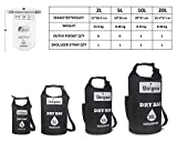 Unigear Waterproof Dry Bag, Roll Top Lightweight Floating Dry Sack for Kayaking, Boating, Fishing, Camping and Hiking with Waterproof Phone Case