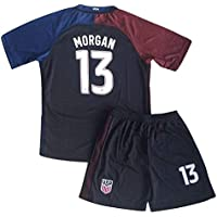 Morgan Jersey and Shorts #13 New USA National 3rd Alex for Kids/Youth Black