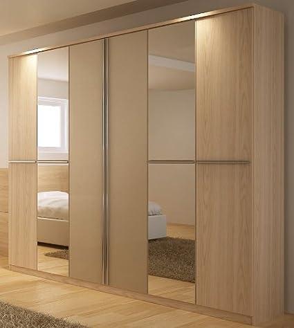 Manhattan Comfort Orchard 6-Door Wardrobe, Nature White and Onyx 33948