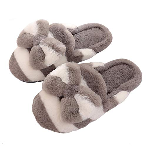 grey 1 Chaussons Femme Bow White Belloo pour qPB0xTwTH