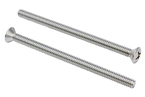 1/4''-20 X 4'' Stainless Phillips Oval Head Machine Screw, (25 pc), 18-8 (304) Stainless Steel, by Bolt Dropper by Bolt Dropper