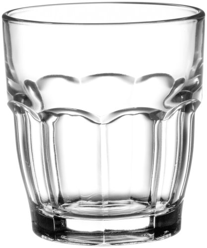 Bormioli Rocco Rock Bar Stackable Juice Glasses, 20 cl 6 3/4 0z, Set of 6