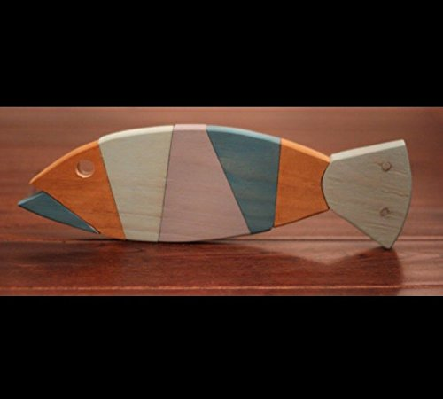 Amazon Com Wooden Fish Wall Art Nautical Striped Pallet Fish