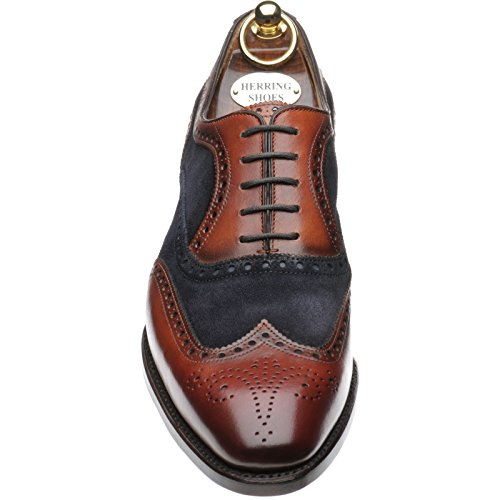 Herring Farnham, Scarpe Stringate Uomo Chestnut and Navy