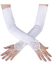 BABEYOND Long Evening Gloves Satin Elbow Gloves Bridal Fancy Dress Gloves Wedding Prom Opera Gloves 1920s Style for Women
