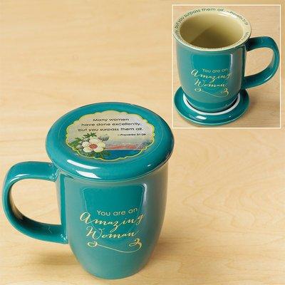 Abbey Gift Amazing Woman Mug and Coaster Set