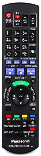 Panasonic SMART BLU RAY DISC RECORDER Remote Control