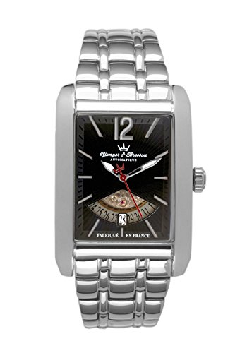 Yonger & Bresson Men's YBH 8335-01 M Monceau Automatic Power-Reserve Steel Watch
