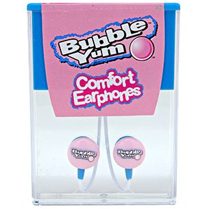 Candy Comfort Earphones Bubble Yum 3.5mm Stereo Headsets (Discontinued by Manufacturer) -