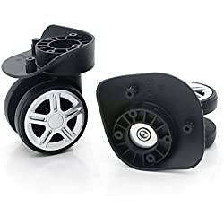 Super Ma 360 Swivel Luggage Mute Wheel Suitcase Replacement Repair Wheels 053(Couple Wheel)
