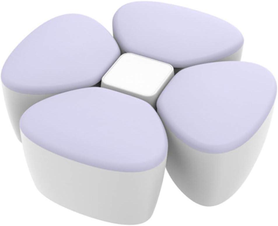 forma de flor Dispensador de leche en polvo para beb/és estuche de polipropileno port/átil para almacenamiento de cuatro enrejados caja de alimentaci/ón sellada azul HavanaYZ