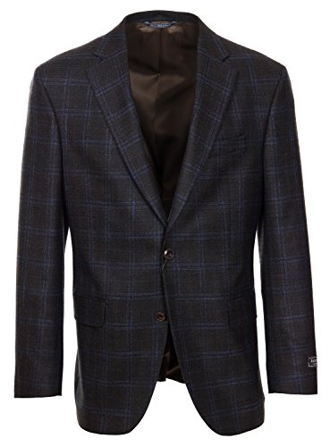 - Jack Victor Gibson Regular Fit Brown Wool-Bamboo Sport Coat - 40S