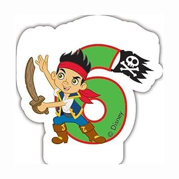Amazon.com: Disney Junior - Vela de 6º cumpleaños, diseño ...