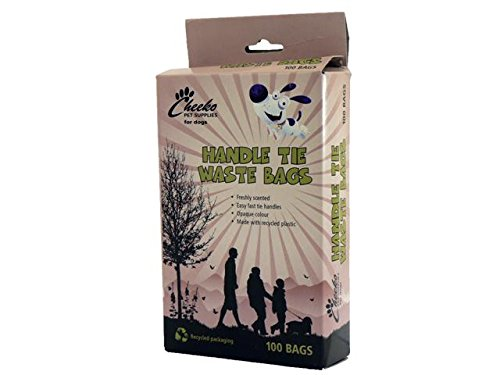 Cheeko Poop Waste Bags Handle Tie, 100 Count