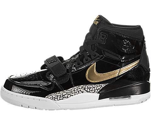 Jordan Mens Air Legacy 312 Basketball Sneakers (Black / Metallic Gold-white, 11 M US) by Jordan