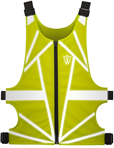 Reflective Vest - Adjustable, Lightweight Neon Yellow Mesh, Back Pocket, Front Zipper - Perfect Reflective Running Vest for Cycling, Jogging, Walking, Outdoor Sports - for Men and Women by GlowONme