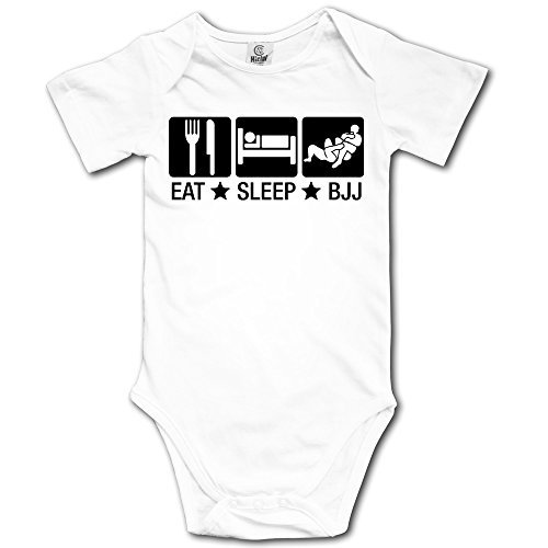 Toddler Eat Sleep Bjj 02 Brazilian Jiu Jitsu Short-Sleeve Bodysuit Onesies (Jiu Clothes Jitsu Baby)