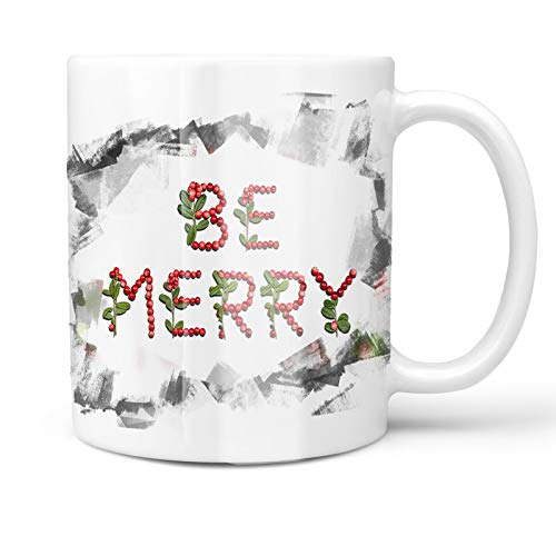 Neonblond 11oz Coffee Mug Be Merry Cranberries Fruits with your Custom Name