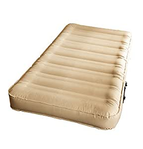SimplySleeper SS-47T Ultra Tough Twin Air Bed with Built-in Fully Automatic Electric Pump, Beige