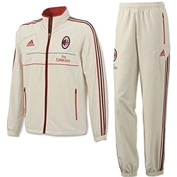 Nike Nuevo AC Milan presentación Chándal W37727 XL: Amazon.es ...