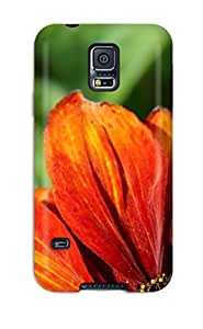Hot Snap-on Orange Flowers Hard Cover Case/ Protective Case For Galaxy S5