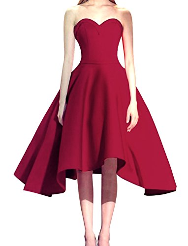 Bess Women's Bridal Homecoming Lace Short Dresses Party Prom up Burgundy Sweetheart rUTwqxr