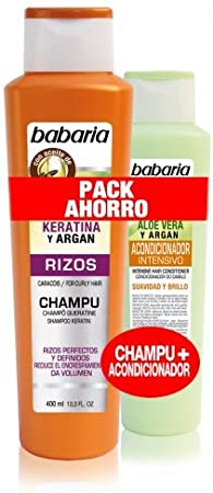 babaria Keratin & Argan Locken Volumen Champú 400 ml & Aloe Vera ...